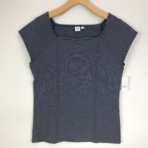 Gap Square Neck Fitted Striped Top